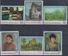 1974 ROUMANIE 2822-27** Tableaux Impressionnistes, Cezanne - 1948-.... Republics