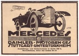 Original Werbung - 1918 - Mercedes , Daimler In Stuttgart - Untertürkheim , Karosserie , Automobile !!! - KFZ