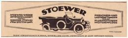 Original Werbung - 1918 - STOEWER - Automobile , Stettin ,  Hamburg , Oldtimer !! - KFZ