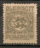 Timbres - Allemagne - Empire - Plébiscite - 1920 - Slesvig - 2 1/2 Pf. -