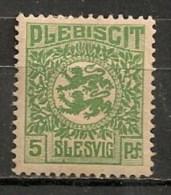 Timbres - Allemagne - Empire - Plébiscite - 1920 - Slesvig - 5 Pf. -