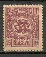 Timbres - Allemagne - Empire - Plébiscite - 1920 - Slesvig - 15 Pf. -