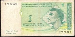 BOSNIA-HERZEGOVINA   P59   1  Konvertible Marka   1998    FINE   NO P.h. ! - Bosnia Y Herzegovina