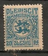 Timbres - Allemagne - Empire - Plébiscite - 1920 - Slesvig - 20 Pf. -
