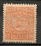 Timbres - Allemagne - Empire - Plébiscite - 1920 - Slesvig - 25 Pf. -