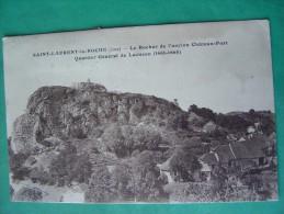 Cpa  SAINT LAURENT La ROCHE -- Rocher De L'Ancien Château Fort - Maisons - Sonstige Gemeinden