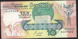 SEYCHELLES    P32   10   RUPEES    1989    VF - Seychellen