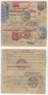 Frankreich Michel No. 139 , 161 , 235 , 241 auf Paketkarte