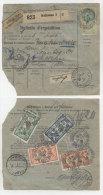 Frankreich Michel No. 100 , 139 , 182 auf Paketkarte