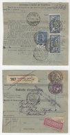 Frankreich Michel No. 100 , 168 , 216 auf Paketkarte