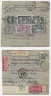 Frankreich Michel No. 100 , 181 , 197 , 235 auf Paketkarte