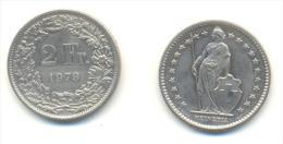 SVIZZERA  2  FRANCHI  ANNO 1979 - Suiza