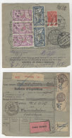 Frankreich Michel No. 100 , 181 , 194 auf Paketkarte