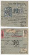 Frankreich Michel No. 100 , 197 , 235 auf Paketkarte