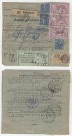 Frankreich Michel No. 168 , 181 , 237 auf Paketkarte
