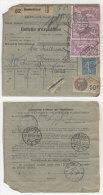 Frankreich Michel No. 168 , 181 auf Paketkarte