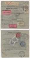 Frankreich Michel No. 168 , 194 , 241 auf Paketkarte