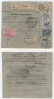 Frankreich Michel No. 168 , 235 , 241 auf Paketkarte