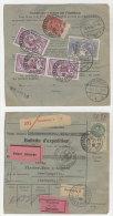 Frankreich Michel No. 181 , 194 , 241 auf Paketkarte