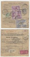 Frankreich Michel No. 181 , 241 auf Paketkarte