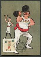 GERMANIA GERMANY - FDC CARTOLINA MAXIMUM CARD 1991 - SPORT SOLLEVATORE PESI - 129 - Pesistica
