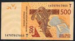 W.A.S. TOGO P819Tc 500 FRANCS 2012  DATED 2014  (20)14  UNC. - Togo