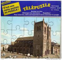 Carte à Système -PUZZLE-  Sous Son Emballage D'origine-la Place Cathédrale - Saint Flour