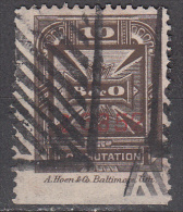 United States    Scott No.  3T13    Used      Year 1886    Perf 12   Note --heavy Cancels For This Issue Are Normal - Telegraph Stamps