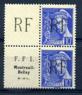 FRANCE LIBERATION MONTREUIL BELLAY N° 8A RARE** MNH - Liberation