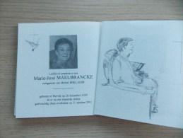 Doodsprentje Marie José Maelbrancke Wervik 26/12/1929 - 31/10/2001 ( Michel Bollaert ) - Religion &  Esoterik