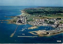 Lesconil Au Pays Bigouden : Port De Pêche Rochers & Plage Du Goudoul N°9524 Aérienne - Otros Municipios