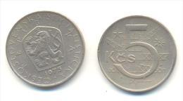 CECOSLOVACCHIA 5 KORONE  ANNO 1975 - Cecoslovacchia