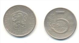 CECOSLOVACCHIA 5 KORONE  ANNO 1981 - Cecoslovacchia
