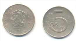 CECOSLOVACCHIA 5 KORONE  ANNO 1984 - Cecoslovacchia