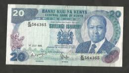 [NC] KENYA - CENTRAL BANK Of KENYA - 20 SHILLINGS (1985) - D. TOROITICH ARAP MOI - Kenia