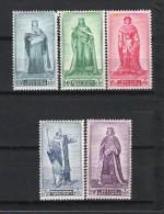 BELGIQUE (1947) - COB 751/755 *MLH - AU PROFIT DES VICTIMES DE GUERRE / PRINCES DU MOYEN-ÂGE - Unclassified