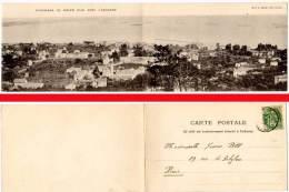 Panorama Du Golfe Juan Avec L'escadre ( Carte Double, Maillan édit. ) - Autres Communes