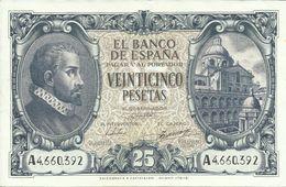 ESPAÑA 25 PESETAS  AÑO 1940 - [ 3] 1936-1975: Regime Van Franco