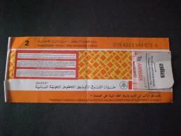 TICKET AVION LIBAN JORDANIA OLD !