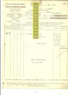 76 - Seine-maritime - ROUEN - Facture VERSTAEN-CHEVET - Coffres-forts Réfractaires – 1925 - REF 160 - France
