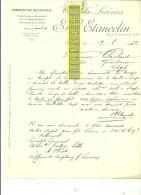 76 - Seine-maritime - ROUEN - Facture ETANCELIN - Coutils - Laines – 1932 - REF 160 - France