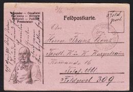 MILITARIA - WW I. -  Feldpost - Feldpostkarte, Year 1916 - Kaiser Franz Joseph I. - Post Card - Militaria