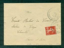 N°138 Variété écarlate Oblitéré C Du N. 1909. Signé R. Calves - Marcophilie (Lettres)