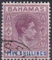 Bahamas 1938 King George VI Five Shillings Used - Bahamas (...-1973)