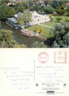 Monkey Island Hotel, Bray-on-Thames, Berkshire, England Postcard Posted 1996 Stamp - England