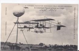 Carte 1910 Semaine D'aviation Bordeaux Beau-Désert-Mérignac : Lieutenant Féquant Prenant Un Virage - Meetings