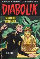 DIABOLIK N°9  MISTERO INSOLUTO - Diabolik