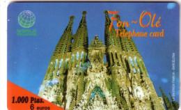 ESPAGNE SPAIN SAGRADA FAMILIA CATHEDRAL CATHEDRALE BARCELONA 1000 PTAS UT
