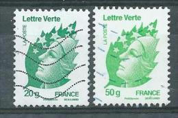 FRANCE   Yvert   N° 4593 Et 4594  Oblitérés - 2008-13 Marianne De Beaujard