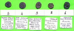 [DO] GENOVA - Lotto Di N´5  MINUTI (Mistura) - Monnaies Régionales